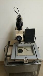 Mitutoyo 192 Digimatic Heightgage Toolmaker Microscope Tm201 Slide Bed Analog
