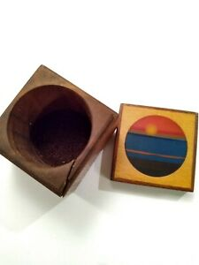 Robert Mckeown Intricate Handmade Mixed Wood Box With Inlay Marked And Signed