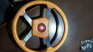 Old Toyota Momo Steering Wheel And Toyota Horn