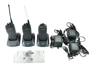 Macom Harris P801t Two Way Radio Opensky 800 Mhz W charger Battery Lot Of 3