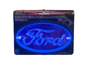 Bully Trailer Hitch Receiver Cover W Led Brake Light Oval Ford Logo Cr017f