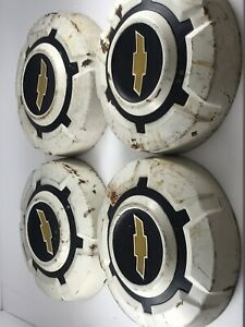 Vintage Chevrolet Pickup Truck Hubcaps Wheel Covers 1 2 Ton 10 Lot Of 4ea