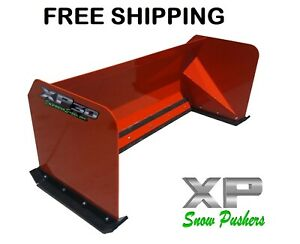 8 Xp30 Red Skid Steer Snow Pusher Bobcat Case Free Shipping Rtr