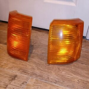 Range Rover P38 Front Amber Turn Signal Parking Lights One Pair 1995 To 2002