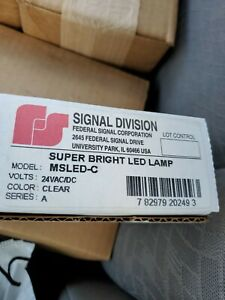 Federal Signal Msled c Led Lamp 24vac dc Clear