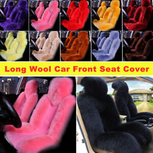 Genuine Australian Sheepskin Fur Long Wool Universal Truck Car Front Seat Covers