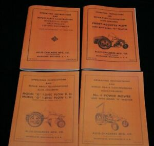 4 Allis Chalmers Model G Plow Sickle Mower Options Implement Owner Manuals Ac