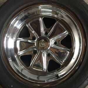 Porsche 911 930 Rear Wheel 16x7 Fuchs Rim Oem Polished W Tire 911 361 02044