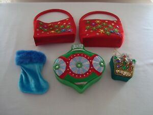 5 Small Christmas Themed Gift Containers boxes holders Novelty Jewelry Gift Card