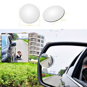 Side Blind Spot Wide Angle Round Convex Auto Car Rear View Rearview Mirror 2pcs