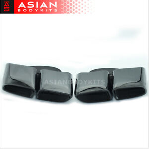 Black Exhaust Tips Muffler Tail Pipes For Porsche Panamera 971 2017 Pair