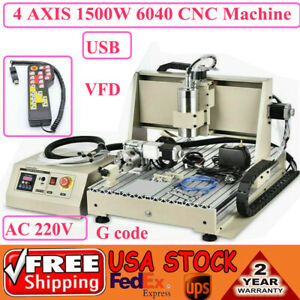 3 4 5axis Cnc Router 6040 Usb 1500w Router Milling Engraving Cutting Machine Us