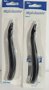 Lot Of 2 New Quill Professional Black Magnetic Staple Remover Blade Style T