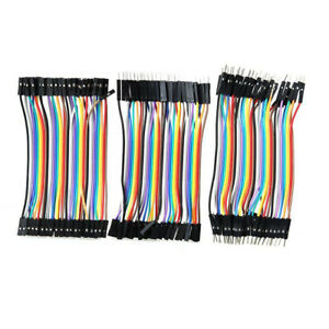 120pcs 11cm Ff Fm Mm Dupont Wire Jumper Cables Male To Female For Arduino