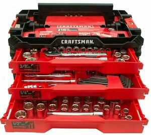 Craftsman Cmmt99206 Versastack 216 Piece Mechanic s Tool Set With 3 Drawer Case