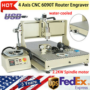 Usb Er20 4 Axis 2200w 6090 Cnc Router Metal Engraver 3d Milling Drilling Machine