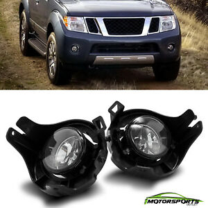 For 2005 2008 Nissan Frontier pathfinder Clear Lens Fog Lights Assembly Pair