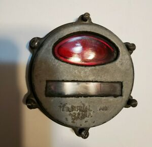 Vintage Industrial Lamp Corp Military Jeep Front Parking turn Signal Rat Rod