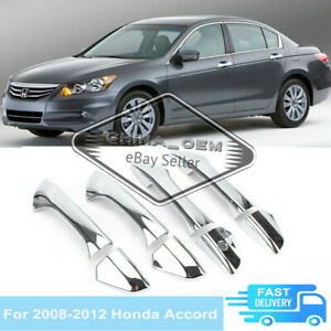 For Honda Accord 2008 2011 2012 Chrome Door Handle Cover Overlays Molding Trims