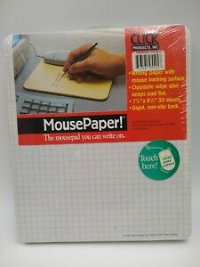 Cl ck Click Vintage Vtg Writing Mouse Paper Mousepad Micro Some Surface Writing