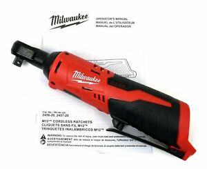 Milwaukee M12 12v Lithium Ion 3 8 In Ratchet Wrench 2457 20