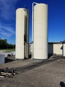 Mueller 10 000 Gallon Stainless Steel 2b Finish Silo Tanks Jacketed