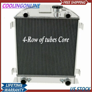 4 Row Aluminum Radiator For Ford Model A With Flathead V8 Engine At mt 1928 1929