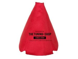 Red Real Suede Manual Shift Boot Fits Honda Civic 1989 2000