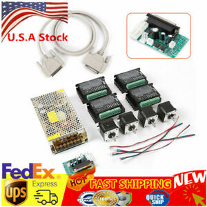 4 Axis Cnc Kit 48oz in Nema 17 Stepper Motor 1 7a 40mm Stepper Driver Dm432