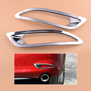 1pair Rear Fog Light Cover Trim Fit For Mazda 6 2018 2020 Accessories Chrome