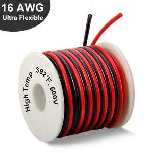 16 Gauge Silicone Wire Spool 50 Ft Ultra Flexible High Temp 200 Deg C 600v 16awg