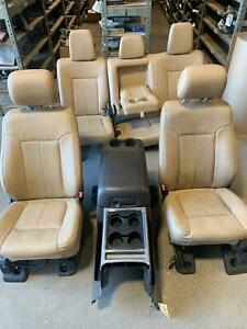 2011 2016 Ford F250 F350 Superduty Front Rear Seats Set Tan Leather Lariat