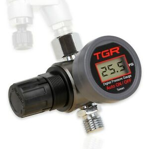 Hvlp Spray Gun Air Regulator With Digital Pressure Gauge And Diaphragm Control