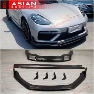 Carbon Body Kit For Porsche Panamera 971 Turbo Gts 2017 Front Lip Diffuser