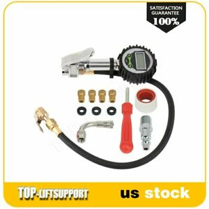 Digital Tire Inflator With Pressure Gauge Medium 250 Psi Air Chuck For Car New