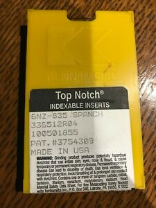Kennametal Top Notch Indexable Inserts 10 Pcs 6nz 835 Spanch 336512r04