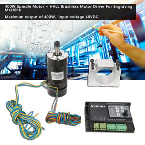 New 400w Spindle Motor With Hall Brushless Motor Driver For Engraving Machine