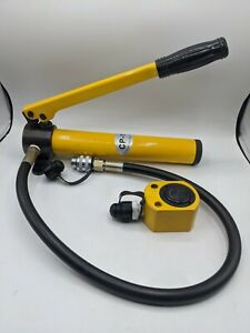 Newtry 10 Ton Low Profile Hydraulic Jack Cylinder Hand Pump Stoke 26mm 1 Inch