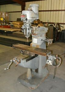 Bridgeport Series 1 2 Hp 42x9 Table Milling Machine 3 Phase