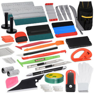Pro Vinyl Squeegee Kit Car Wrap Application Tools Window Tint Film Installation