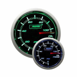 Prosport 52mm Universal Oil Pressure Gauge W Sender Green White