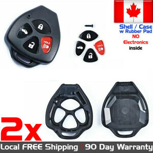 2x New Replacement Keyless Entry Remote Control Key Fob For Toyota Case Shell