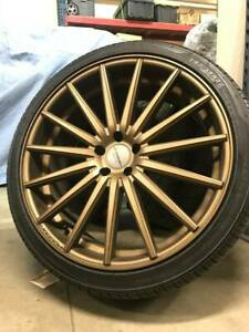 Vossen Vfs 2 Satin Bronze Wheels 22x9