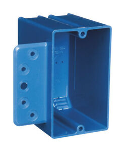 Carlon 3 3 4 In Pvc Rectangle Switch Box Blue 1 Gang