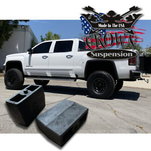 4 Rear Leveling Lift Blocks For Chevrolet Silverado Gmc Sierra Hd Steel Kit