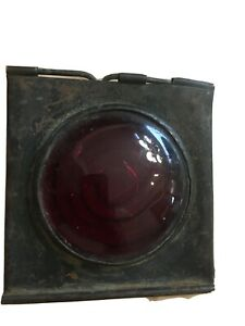 Antique Jefferson 901 Tail Light Lens Early Still Mounted In Frame Original