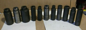 Lot Of 11 Mac Tools 1 2 Dr Metric Deep Well Impact Sockets 30mm To 10mm