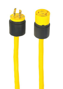 Yellow Jacket 1493 Pvc 125v 30a 1875w 10 4 Sjeow 1 outlet Generator Cord 25 Ft