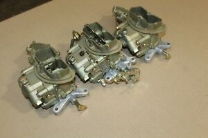 68 Corvette 3659 4055 Tri Power Holley Carburetors 427 435 400 Dated 842 841 841