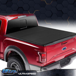 For 09 14 Ford F150 6 5ft Truck Short Bed Frp Hard Solid Tri Fold Tonneau Cover